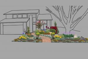 A visual of the new front yard